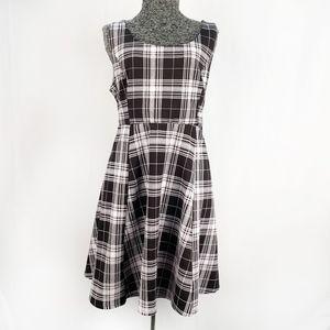 Torrid | B/W Plaid Textured Skater Dress 1X